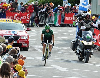 Pierre Rolland (cyclist) - Rolland on his way to winning Stage 19 of the 2011 Tour de France on Alpe d'Huez