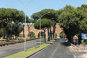 Via Cristoforo Colombo - The beginning of Via Cristoforo Colombo at Porta Ardeatina