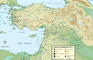 La missione di Silla, procuratore della Cilicia, nel 96 a.C., quando incontrò un satrapo dei Parti presso Melitene (futura fortezza legionaria).