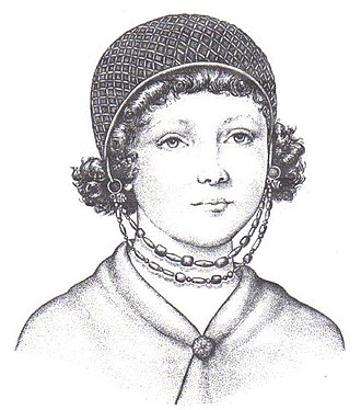 Pannonian Romance - Image of Roman Pannonia girl (6th century), wearing ornaments of the Keszthely culture