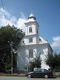 Roman Catholic church in Marosújvár.jpg