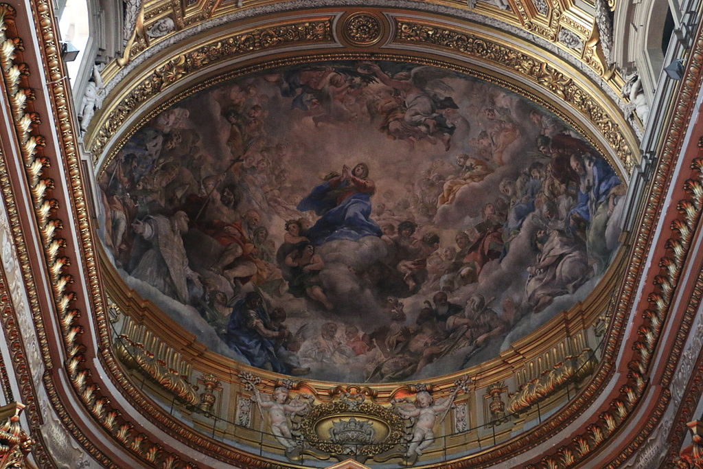 Rome, Chiesa di Santa Maria in Vallicella 049 - Frescoed Vault.JPG