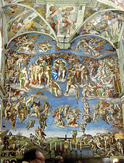 Detail from Michelangelo's The Last Judgment.