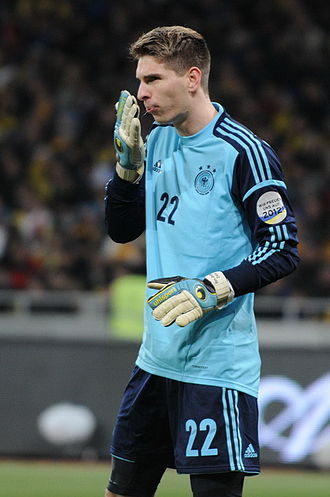 Ron-Robert Zieler - Zieler playing for the national team against Ukraine on 11 November 2011.