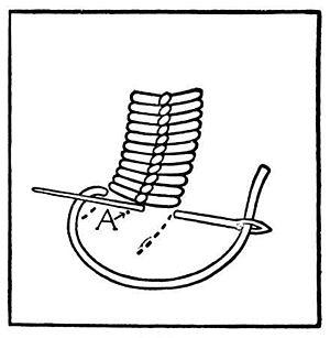 Couching - Image: Roumanian stitch