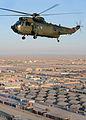 Royal Navy Sea King Mk 4 Helicopter Over Camp Bastion, Afghanitsan MOD 45153253.jpg
