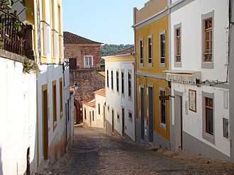 Silves, Portugal - A street in Silves