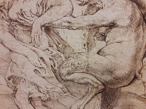 Rubens Satyrs chasing nymphs (detail) 02