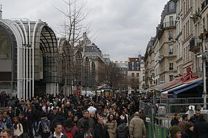 Les Halles - Rue Pierre Lescot outside of the Forum des Halles