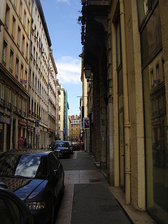 Rue des Capucins - The street, just after the Place des Capucins