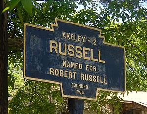 Russell, Pennsylvania - Image: Russell, PA Keystone Marker crop