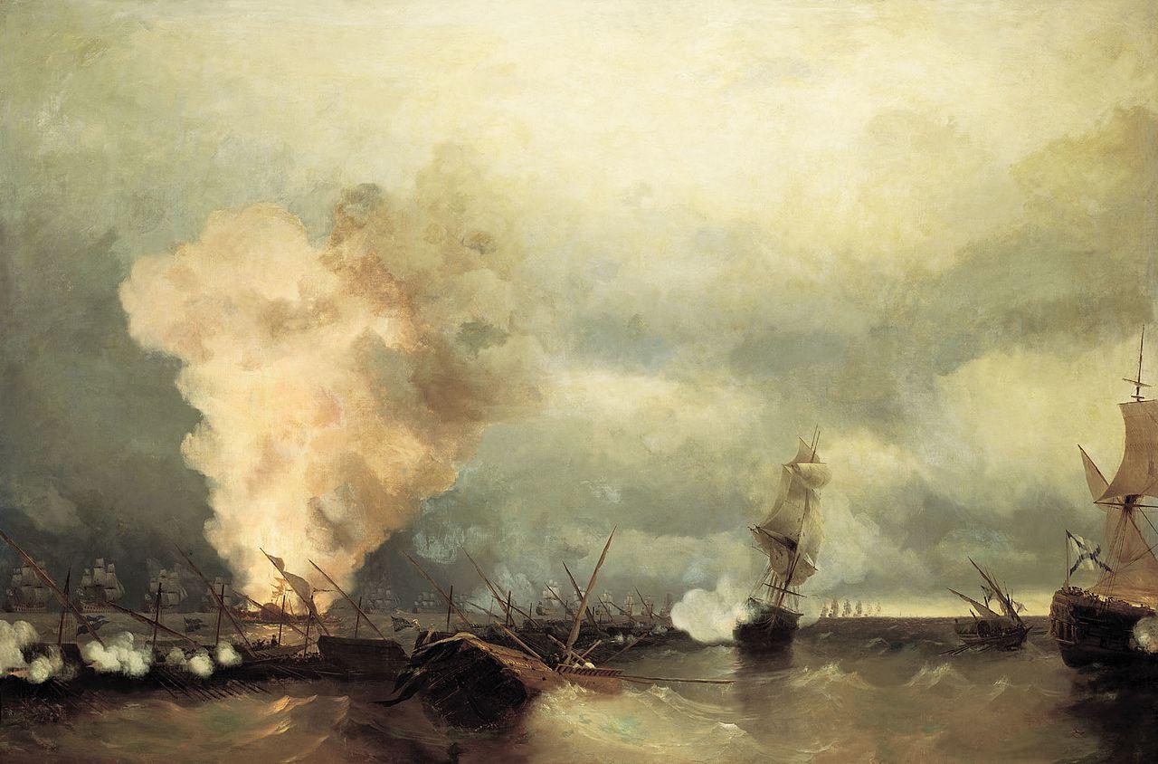 И.К.Айвазовский. Морское сражение при Выборге 22июня 1790года (1846)