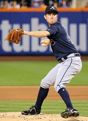 Ryan Weber - Weber pitching for the Atlanta Braves in 2016