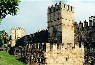 Walls of Seville cultural property in Sevilla, Spain