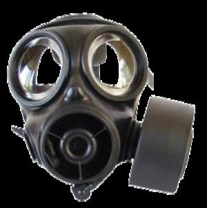 S10 NBC Respirator - A S10 respirator with a filter
