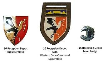 16 Reception Depot - SADF era 16 Reception Depot insignia