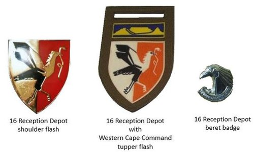 SADF era 16 Reception Depot insignia