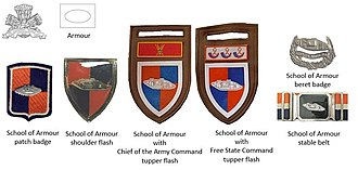 School of Armour (South Africa) - SADF era School of Armour insignia