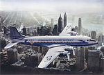 SAS DC-4, Dan Viking, OY-DFI, the first SAS flight over NYC, New York, Manhattan.jpg