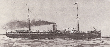 Early promotional artwork of the SS Columbia.