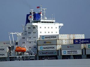 Safmarine Nokwanda p13 approaching Port of Rotterdam, Holland 20-May-2007.jpg
