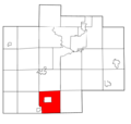 Saginaw County Michigan townships Chesaning highlighted.png