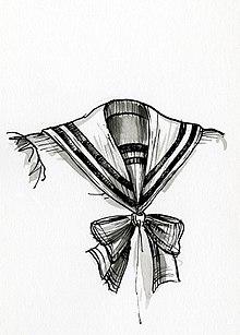 Disegno di dettaglio di una tipica divisa da marinaio.