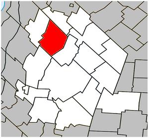 Saint-Jude, Quebec - Image: Saint Jude Quebec location diagram