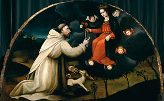Plautilla Nelli - St. Dominic Receives the Rosary painted by Plautilla Nelli and workshop