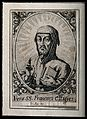 Saint Francis of Assisi, head and shoulders; wearing a Wellcome V0032015.jpg