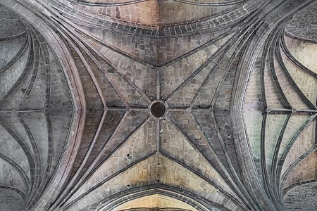 Vaulting in the Saint Gerald abbey church of Aurillac, Cantal, France
