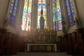 St. Joseph Oratory - The high altar and tabernacle in St. Joseph Church.