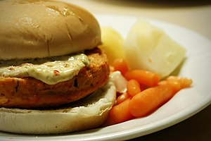 Fish sandwich - Salmon burger