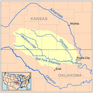 Salt Fork Arkansas River - Image: Saltforkarkansasrive rmap