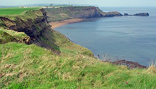 north-east facing bay near Whitby, North Yorkshire, England