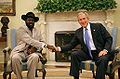 Salva Kiir Mayardit with George Bush November 15, 2007.jpg