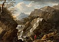 Salvator Rosa (follower of) - A Mountainous Landscape with a Waterfall, c.1660–1670.jpg