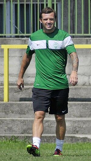 Sam Stockley - Stockley at Ferencvárosi TC in July 2010.