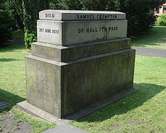 Samuel Crompton - Grave of Samuel Crompton, St Peter's churchyard, Bolton, UK