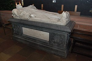 Samuel Waldegrave - Samuel Waldegrave's tomb in Carlisle Cathedral