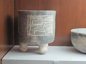 San José Mogote - Pottery vessel with Earthquake motif from San José Mogote