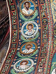 San vitale, ravenna, int., presbiterio, mosaici volta e arcone 06.JPG