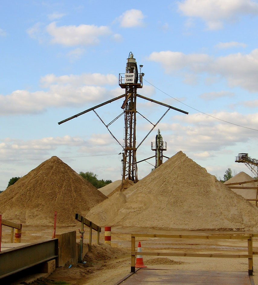 Sand sorting tower