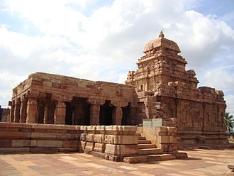 Badami Chalukya architecture - Sangameshvara temple, Pattadakal built in 725 CE