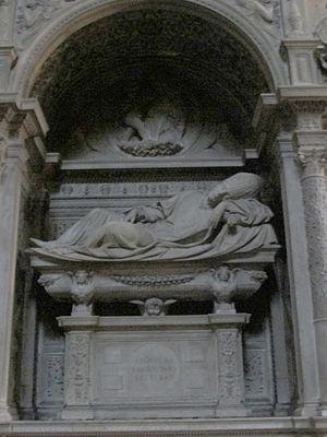 Girolamo Basso della Rovere - Tomb in Santa Maria del Popolo, created by Andrea Sansovino.