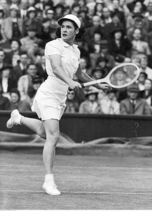 Sarah Palfrey Cooke - Palfrey (then Fabyan) at Wimbledon in 1939