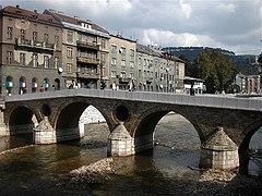 The Latin Bridge in Sarajevo was the site of the assassination.