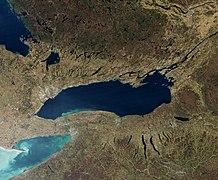 Satellite image of Lake Ontario - November 2009 (cropped)