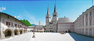 Berchtesgaden Provostry - Monastery church and Wittelsbach palace