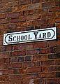 School yard wall sign in Horbury, West Yorkshire.jpg